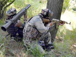 An army jawan was injured today when militants opened fire on a patrol party in Shopian district of south Kashmir.