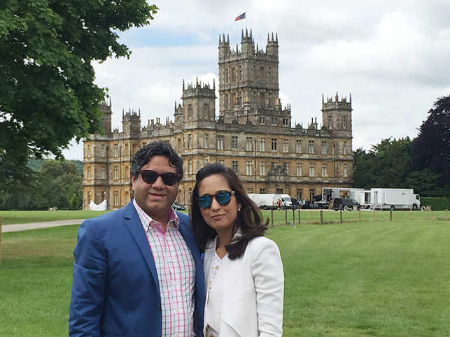 Rahul Munjal, MD, Hero Future Energies, dishes on spending a whole day with the cast and crew of hit TV show, Downton Abbey, at the sprawling Highclere Castle.