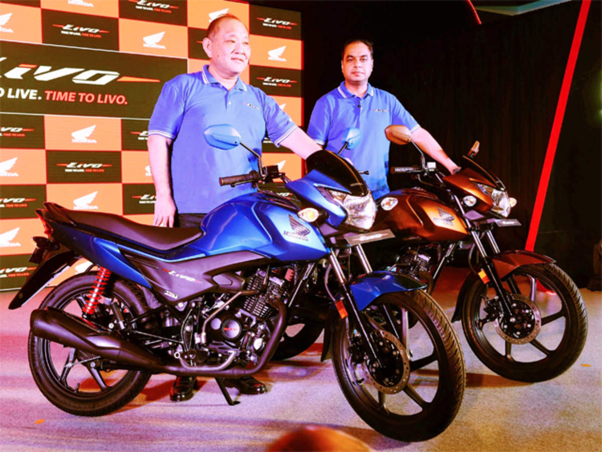 Honda Motorcycle Scooter India Launches 110cc Bike Livo Priced Up Front View Bikes In To Rs 55489 The Economic Times