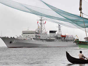 File photo: Chinese naval training ship Zheng He calling at Kochi Port on September 5, 2012.