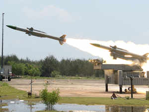 In pic: Akash Weapon System (AWS), an indigenously designed, developed and produced 'air defence system' and 'Weapon Locating Radar'.