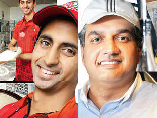 Meet Atulya Mittal (left), the master franchisee of American pizza delivery chain Papa John's; and Ramit Mittal, who brought PizzaExpress of the United Kingdom to India.