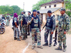 File photo: Security personnels pumped into the jungles of the Naxalite-infested Bastar region for a major offensive against the ultras on October 1, 2013.
