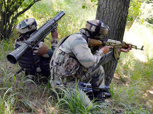 Representational image: Army personnel take positions during an encounter with militants near the Line of Control in Uri sector of Kashmir on July 3, 2015.