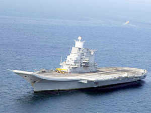 INS Vikramaditya, the latest aircraft carrier inducted by the Indian Navy,