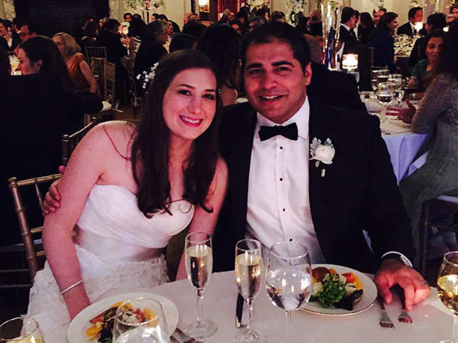 "As per a note attached with the reception e-vite, Tavraj married Alexandra Shwartz in a ""small and beautiful wedding in Newport, Rhode Island"" on May 24."