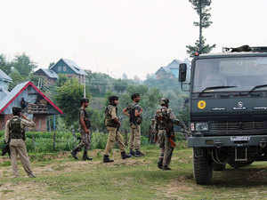 Representational image: Security forces conduct search operation against the militants Kashmir's Shopian district, on July 5, 2015.