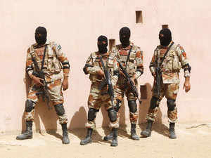 Representational image: Pakistan Rangers stand during a counter-terrorism training demonstration at RSSC in Karachi, Pakistan, Feb 24, 2015.