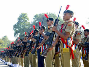 File photo: The National Cadet Corps celebrates 64th Raising Day at NCC Complex located at Law Garden, Ahmedabad on November 24, 2012.