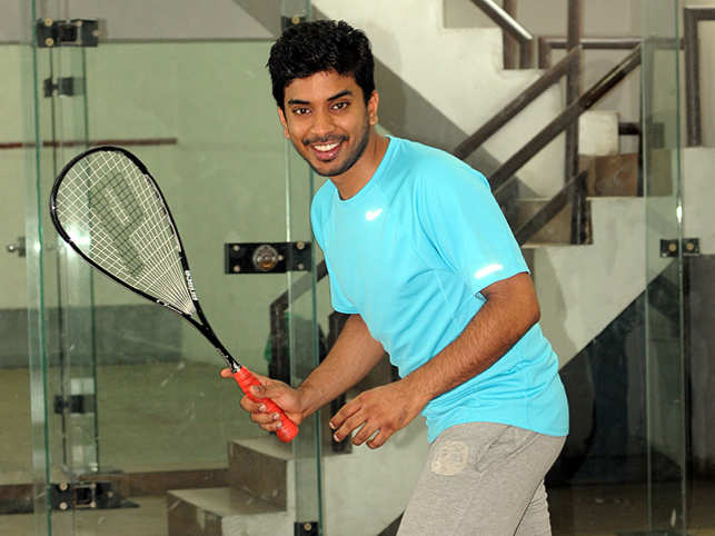 Keshav Bansal, director, Intex Technologies, likes to burn off calories with an energetic game of squash.