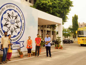 Students at IIT-Ropar's temporary campus