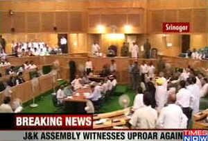 Again, Uproar in J&K assembly
