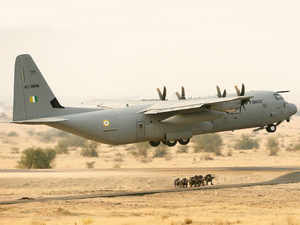File photo of IAF's C-130J Super Hercules aircraft.