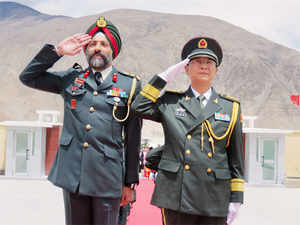 Delegations ofSino-Indiaborder guards met on August 1 at India's highest airport inDBOwhich is the fifth border point to be opened between the two countries.