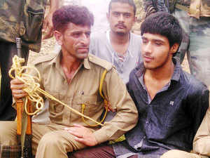 In pic: A militant captured in Udhampur after a gunbattle on the Jammu- Srinagar highway at Narsoo Nallah on August 5, 2015.