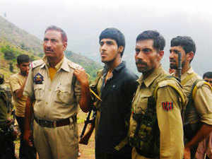 In pic: A militant identified as Naved, captured in Udhampur after a gunbattle on the Jammu- Srinagar highway at Narsoo Nallah on August 5, 2015.