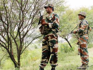 In pic: Army jawans patrolling India-Pakistan International Border in Jammu.