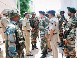 Special security arrangements have been made in border districts in Punjab, where terrorists carried out an attack in Gurdaspur nearly a fortnight back.
