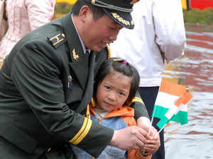 Indian and Chinese troops jointly celebrated the country's 69th Independence Day at Bumla in Arunachal Pradesh on August 15.