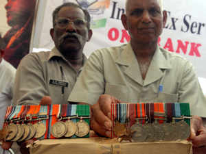 File photo: A third veteran today joined the fast-unto-death by ex-servicemen as part of the agitation to press for implementation of 'One Rank One Pension'.