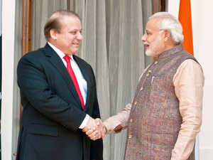 File photo: Prime Minister Narendra Modi shakes hand with his Pakistani counterpart Nawaz Sharif before their meeting in New Delhi.