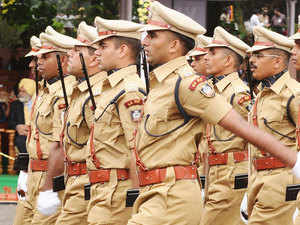 File photo: Passing out IPS officers participate in ceremonial march past at the SVP NPA in Hyderabad.