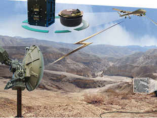 In pic: DLV-53 which offers the UAV a communication suit that includes LOS, LOS-Relay, Satellite terminal and CAS with ATC in one.