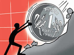 The rupee today closed 55 paise higher at 66.10 against the US dollar. Rupee had tumbled by 82 paise - its biggest single day fall this year - to settle at 66.65 on Monday.