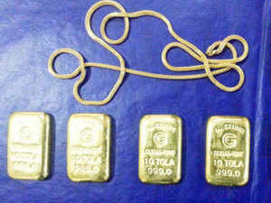 The customs officers provided gold seizure details which has almost doubled to more thanrs1,100crorein 2014-15 as compared toRs692crorein the previous year andRs99croretwo years ago.