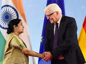 India and Germany agreed to cooperate on counter-terrorism measures and reviewed proposals including a USD 1 billion German commitment for an ambitious solar venture in India.