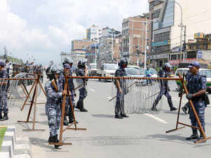 High alert was sounded along the Indo-Nepal border due to the unrest in Nepal, in which 11 persons including an Indian national were killed.