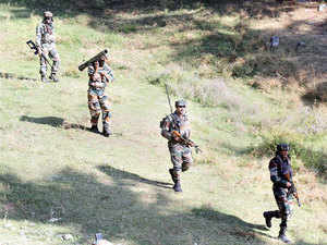 Indian Army and police killed four terrorists and captured the fifth one in Kashmir. The terrorist was captured alive Rafiabad after an encounter.