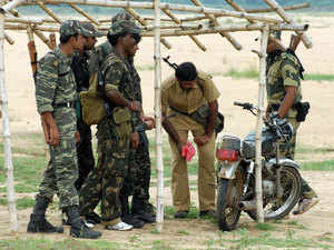 Seven hardcore Maoists were today arrested by security forces from a bus stand in Banka district of Bihar, a police official said.
