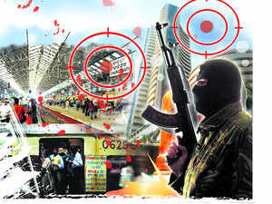Mumbai has the largest exposure to terrorism at almost $8 billion and the second highest exposure to power outages with $1.92 billion of GDP at risk among the large global cities,says a report.