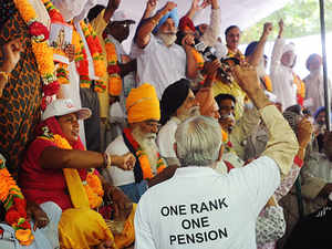 Attacking Congress, Shah said the pension of ex-servicemen was decreased by its government in the 70s and slammed the allocation of only Rs 500 crore for OROP by the previous UPA government.