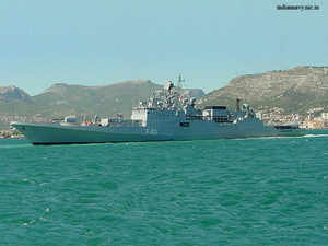 These projects include aircraft, warships, armoured fighting vehicles complex missile systems, command and control networks and critical materials.In pic: Talwar class frigate.