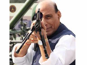 """""""If someone fires at us first, we will not count the retaliatory bullets.Chhedengenahi, parchhodengebhinahi(will not disturb anyone, but if disturbed, then won't spare anyone),"""" Rajnath Singh said."""