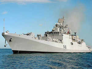 Of the four ships, INS Delhi and INS Trishul entered Doha, Qatar on Monday and shall remain there till September 17, 2015. In pic: INS Trishul.