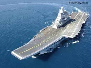 During US President Obama's visit to India, the two countries had announced the establishment of a working group for the proposed aircraft carrier.In pic: INS Vikramaditya