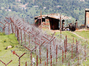 In Pic: A view of an Indian border post near fencing on the line of control (LoC) near Balakot sector in Poonch.