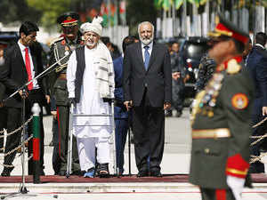 In pic: Afghan President Ashraf Ghani (C) attends Afghan Independence Day celebrations in Kabul August 19, 2015.