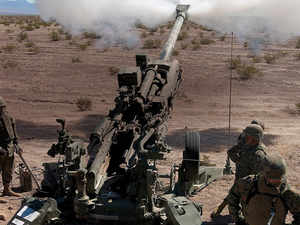 In pic: US-origin M777 artillery guns that government has cleared under three 'Make in India' contracts worth $3.4 billion.
