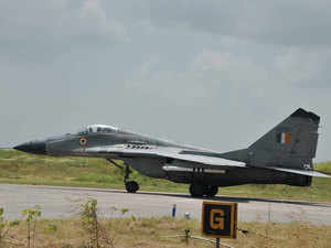 This infused confidence in the people that the IAF, Jamnagar, was fully prepared to meet any threat in defending India's international border.In pic: Mig 29