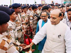 Home Minister Rajnath Singh  will spend the night with officers and jawans of the border guarding force for a first hand feel of conditions they work in.