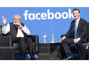 PM Modi illustrated the power of social media as a tool of empowerment by pointing to himself.