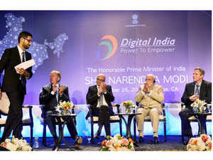 Google and software maker Microsoft were among some of the largest technology giants that pledged their support to PM Modi's Digital India initiative.