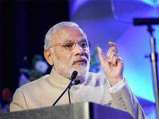 Modi said his govt was laying thrust on 3 sectors - agriculture, services and manufacturing - along with building the physical and digital infrastructure.