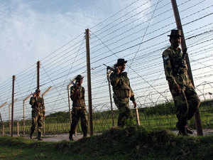 India is not constructing a wall along the International Border in Jammu and Kashmir as charged by Pakistan, BSF IG Rakesh Sharma said today.