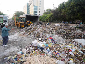 The locals say that the garbage was being dumped in an open ground in a residential area adjoining the LIC office on S V Road.