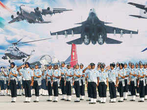 In pic: IAF personnel during the the full dress rehearsal for the Air Force Day function at Air Force Station Hindon in Ghaziabad on October 6, 2015.